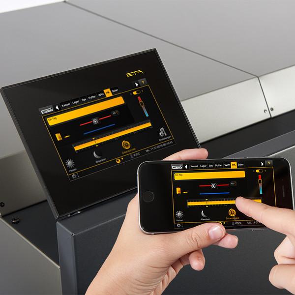 ETA touch: Touch-displayen på pannan